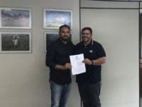 Ricardo Cerveira e o superintendente do Incra/SP, Alexandre Pereira.