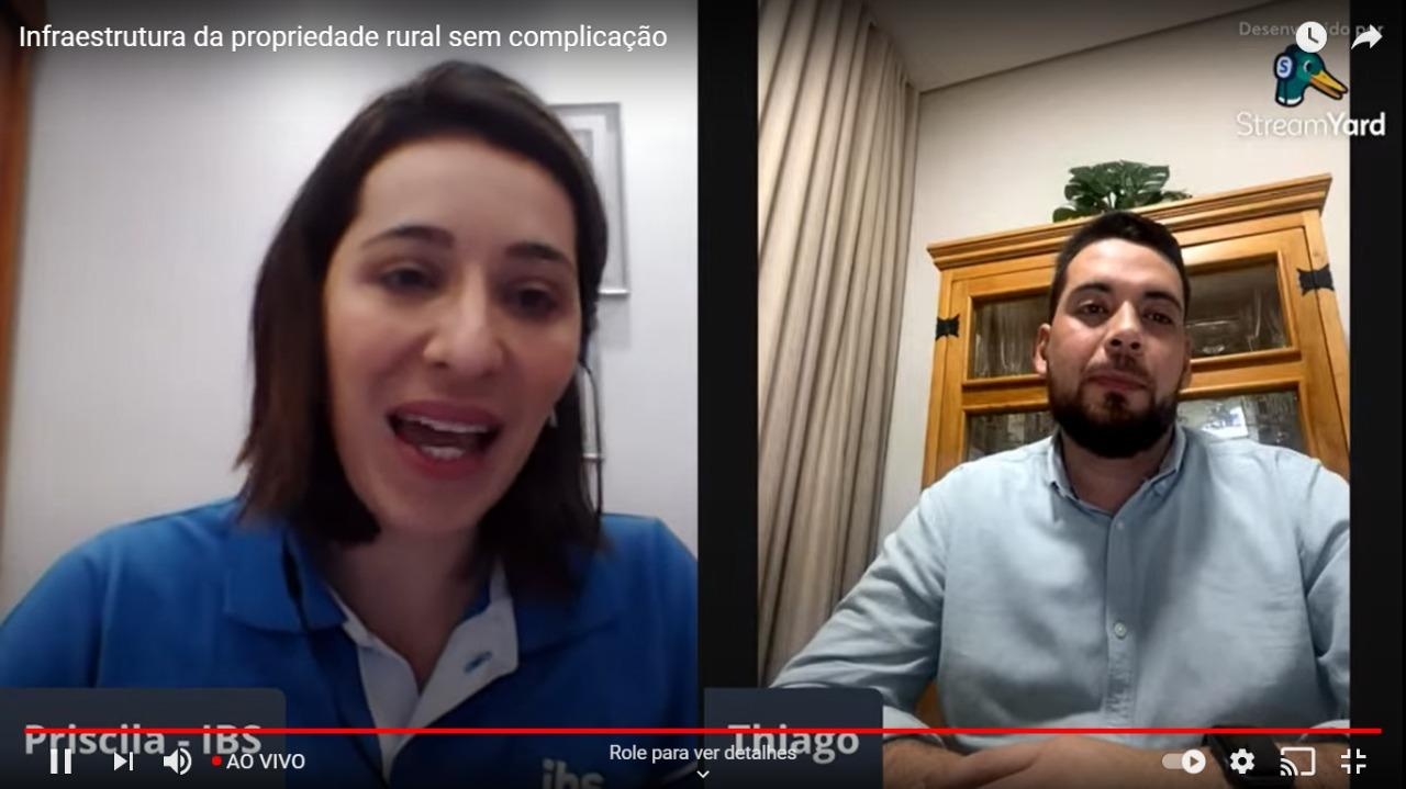IBS realiza live sobre infraestrutura da propriedade rural para produtores do Soja Plus Goiás