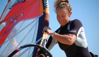 Emma Westmacott windsurfing