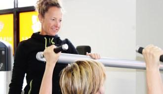 Coaching a client through shoulder rehabilitation