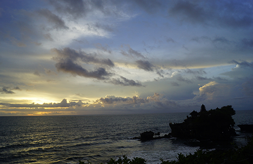 Sunset Tanah Lot Bali Indonesia
