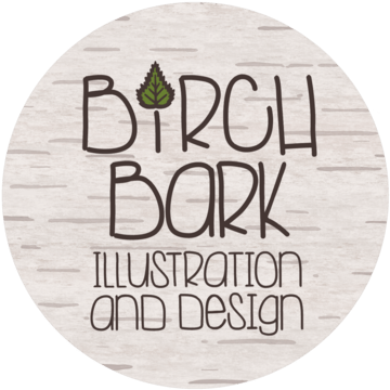 Birch Bark Illustration and Design