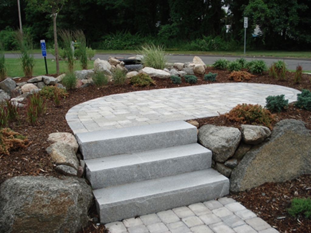 Stone Steps Stairs Landings In Connecticut Outdoor | Granite Stone Steps Outdoor