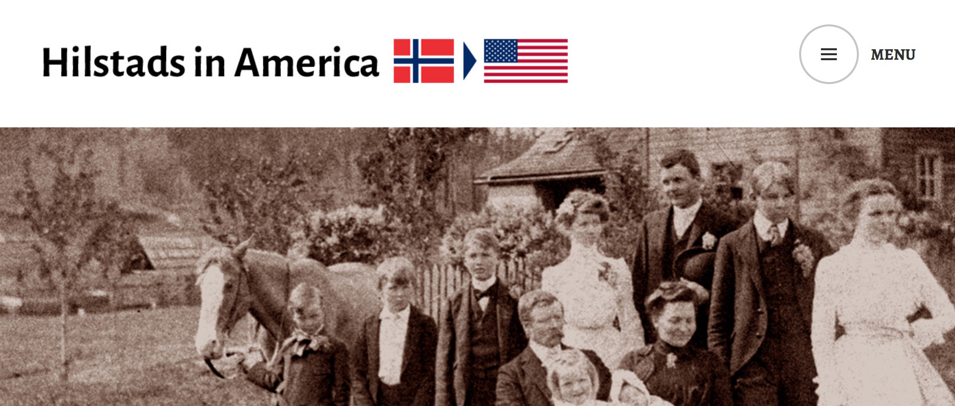 Photo and graphics from Hilstad family immigration history website