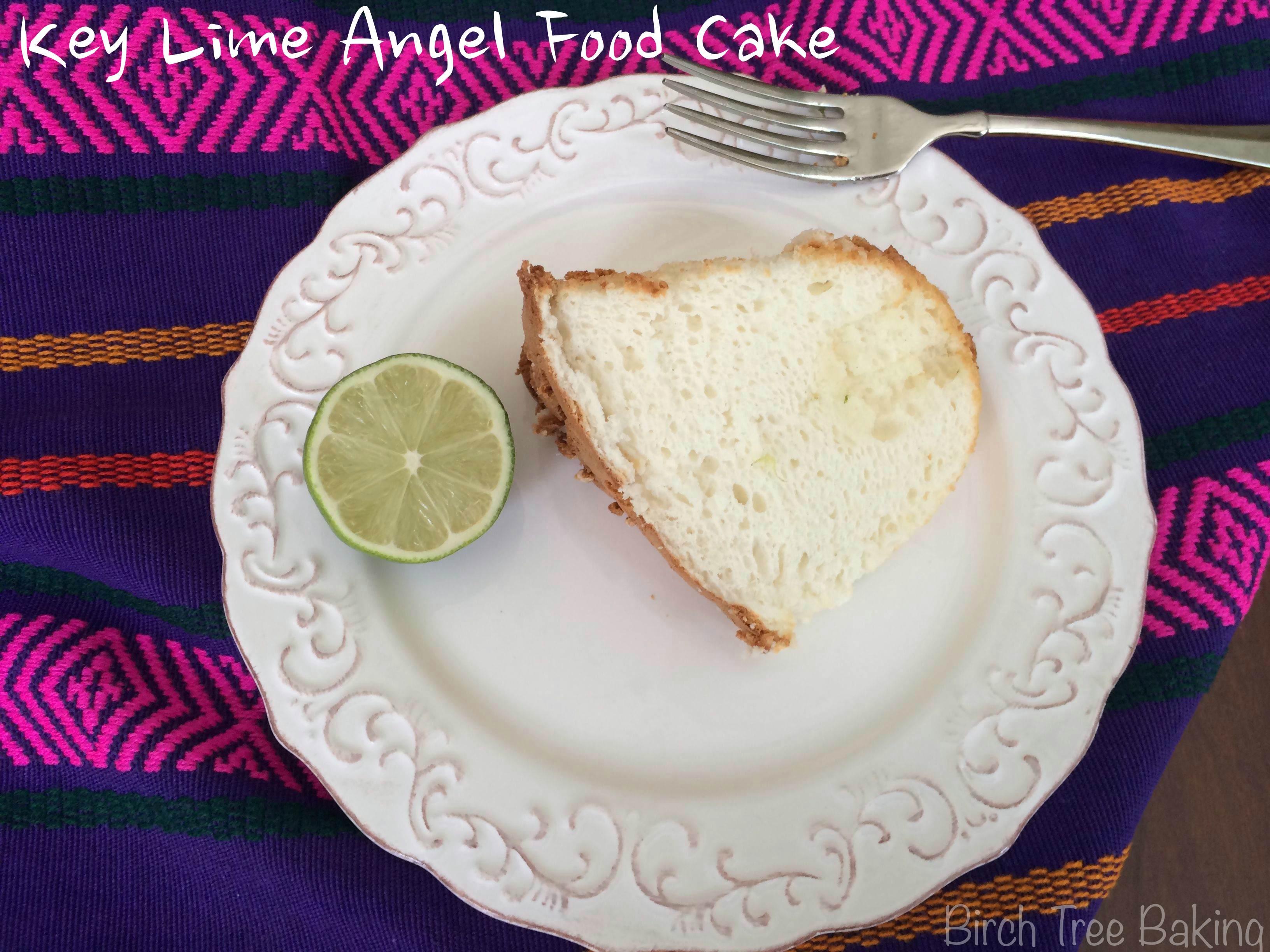 Key Lime Angel Food Cake Birch Tree Baking