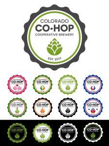 official co-hop logo design plus alternate color versions