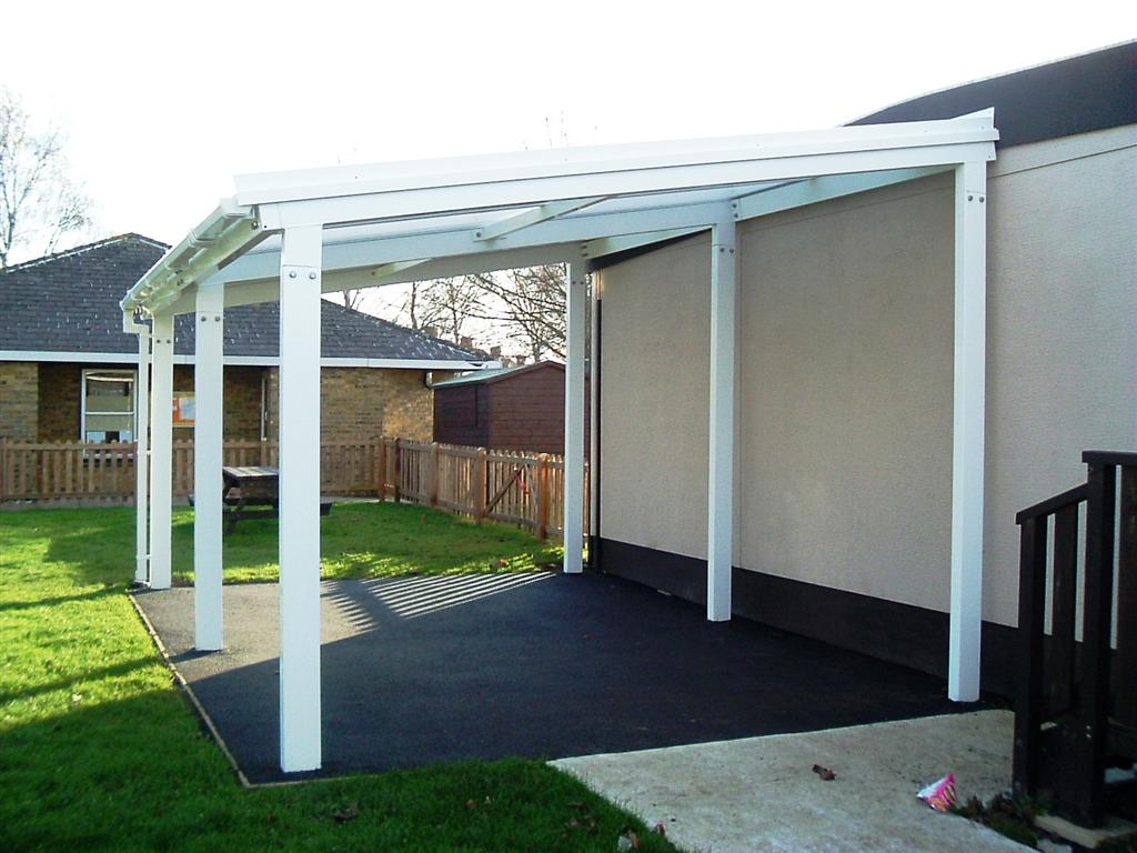 5m Powder Coated Aluminium Free Standing Canopy, Lean-to ... on Patio Cover Ideas Uk id=21278