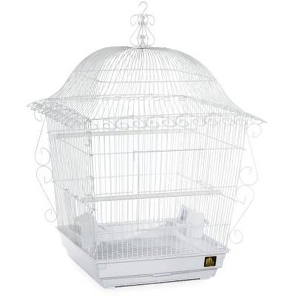 Elegant Top Bird Cage for Small Birds by Prevue 220 White