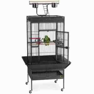 Play Top Bird Cage for Small Medium Parrots by Prevue 3152 Black