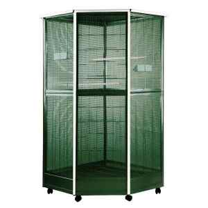 Indoor Aviary Corner Bird Cage AE 100G-3 Green Small