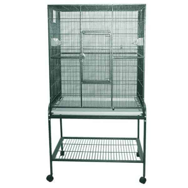 Indoor Aviary Bird Cage & Stand for Smaller Birds by AE 13221 Platinum