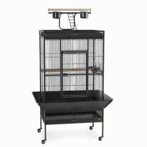 Play Top Bird Cage for Medium Parrots by Prevue 3153 Black