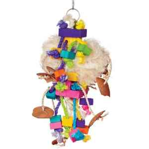 Bodacious Bird Toy for Medium to Large Parrots – Tough Puff