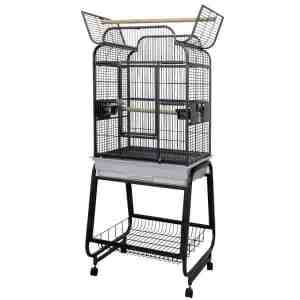 Flat Top Bird Cage For Smaller Parrots by AE 782217 Platinum