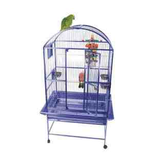 Dome Top Bird Cage for Medium Large Parrots by AE 9003223 White
