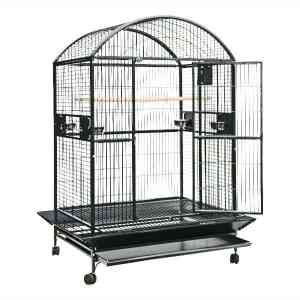 Dome Top Bird Cage for Large Parrots by AE 9004836 White