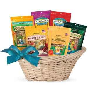 Basket of lafebers Nutri Berries and Avi Cakes