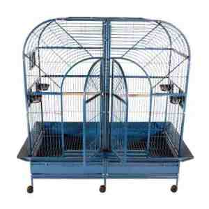 Divided Bird Cage for Large Parrots by AE 6432 White