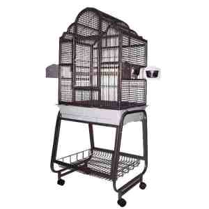 Elegant Top Bird Cage & Stand for Small Birds by AE 703 Black