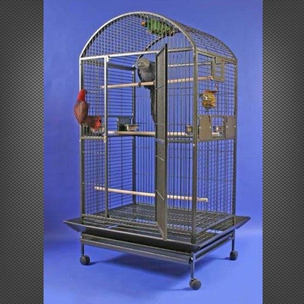 Dome Top Bird Cage for Large Parrots by AE 9004030 Black