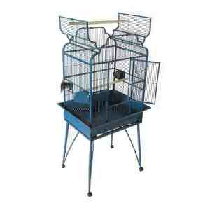 Elegant Top Bird Cage for Smaller Birds by AE B-2620 Platinum