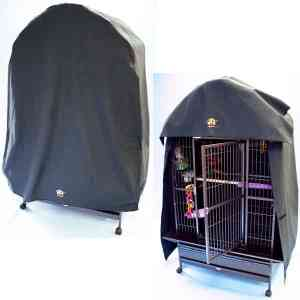 Cozzzy 48 Inch x 36 Inch Bird Cage Cover for Dome Top cages – 4836DT – Black