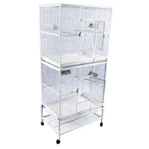 Breeder Bird Cage Double Stack Space Saver by AE 13221-2 Black