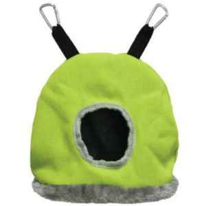 Warm Snuggle Sack for Birds by Prevue Medium Green