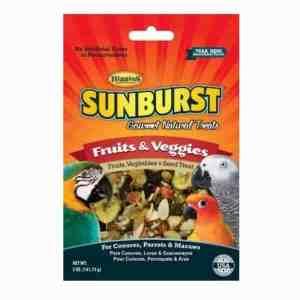 Higgins Sunburst Fruits and Veggies Parrot Treat Large 5 oz (141.75 g)