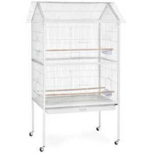 Indoor Aviary Bird Cage For Small Birds By Prevue Pet F030 White