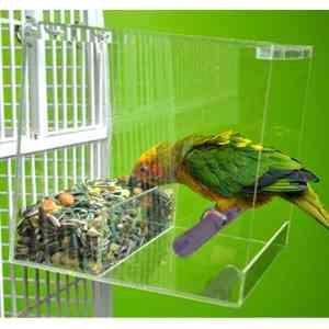 Tweeky Clean Mess Less Pet Bird Feeder Large
