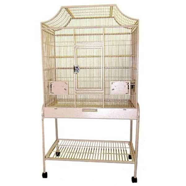 Elegant Top Flight Cage for Smaller Birds by AE MA2818FL Sandstone