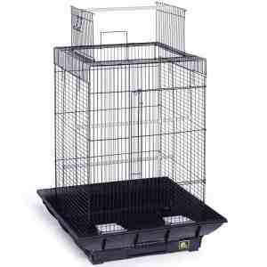 Clean Life Open Top Bird Cage for Small Birds 851 Black