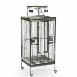 Stainless Steel Play Top Bird Cage for Medium Parrots by Prevue 3453