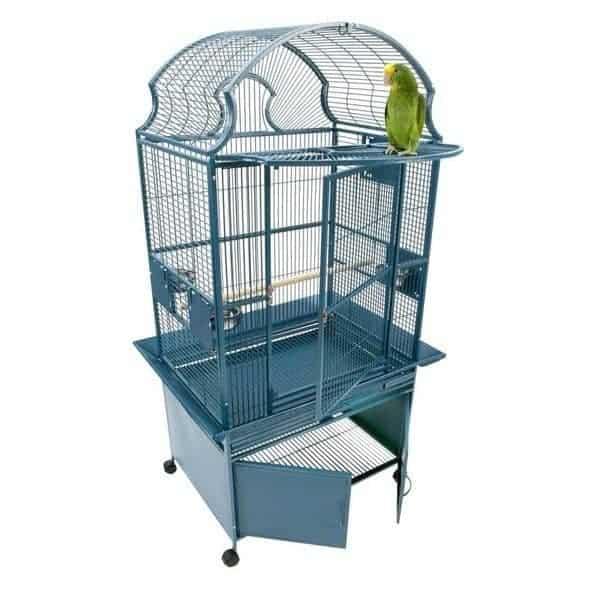 Elegant Top Bird Cage & Storage Base Cabinet by AE RY3628 Black