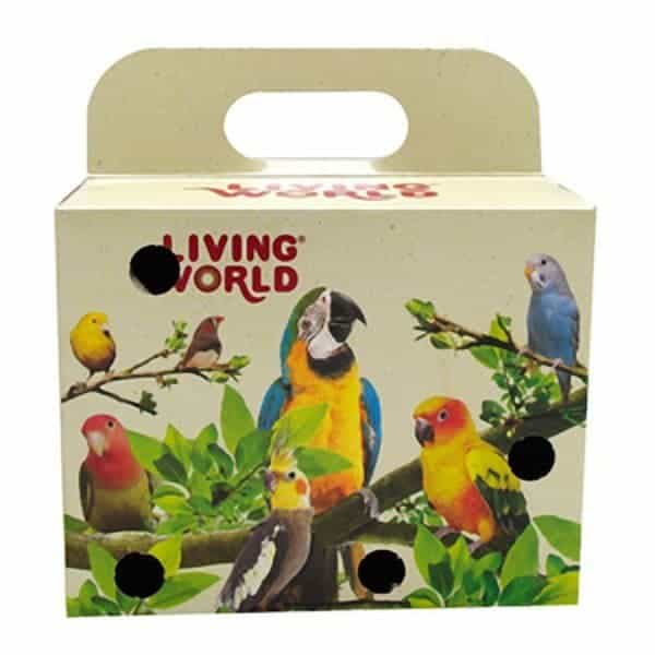 Cardboard Carry Box For Small Birds Canaries Parakeets 5×4