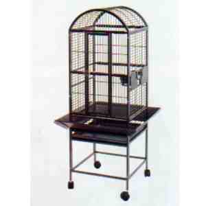 Dome Top Bird Cage for Smaller Parrots by AE 9001818 White