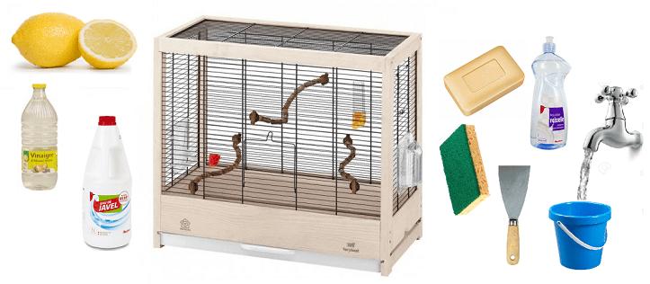 Comment nettoyer la cage de mon oiseau