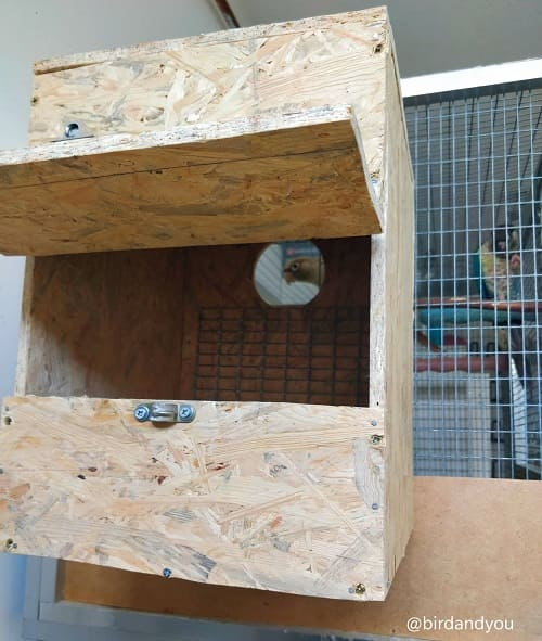 Fabriquer nid pyrrhura 3 2020 - How to make a nest for parakeets in 5 steps