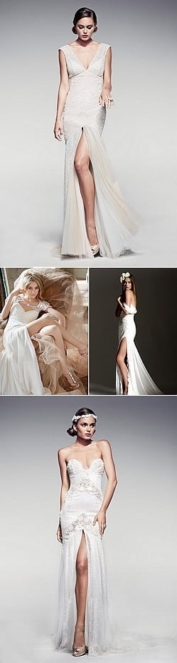 02-Short-wedding-dress-split-front