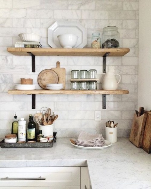 Open Kitchen Shelves Decorating Ideas: Open Shelving Brackets