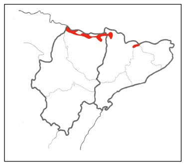 Wallcreeper distribution map in northeast Spain