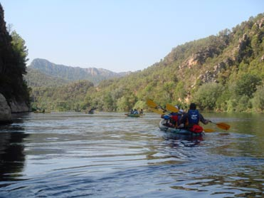 Miravet and the River Ebro by canoe
