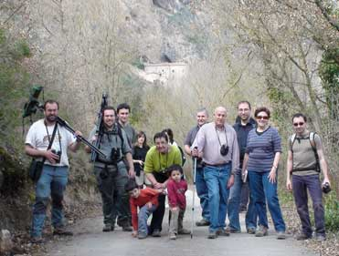 Spanish birders in Montsec
