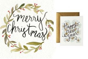 Cartes de Noël - ma sélection