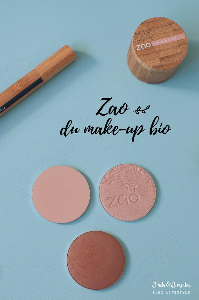 Test & avis maquillage bio Zao Make Up
