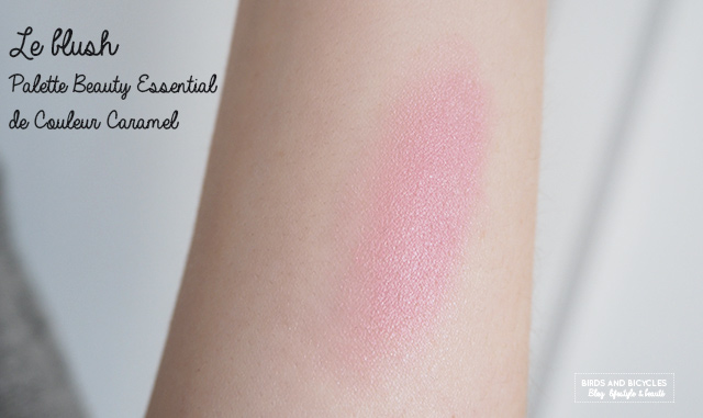 Swatch blush Palette Couleur Caramel Beauty Essential