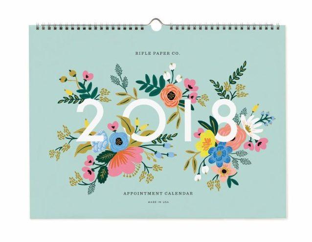 Trouver un beau calendrier pour 2018: ma sélection auprès d'illustrateurs!