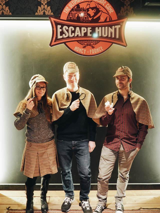 Notre trio de détectives à l'Escape Hunt à Nancy