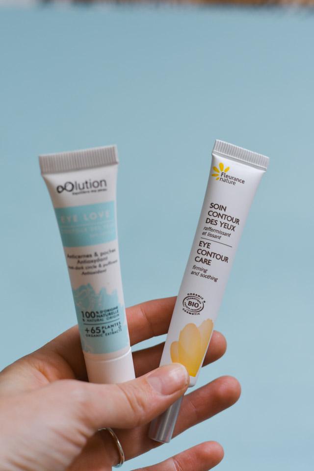 Soin de contour des yeux bio: deux produits à recommander, à la texture légère
